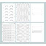 6種の型紙データ (PDF)